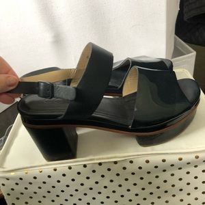 COS blue patented heels/clogs size 40